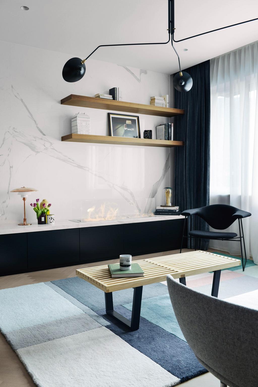 當代, 私家樓, 客廳, 跑馬地, 室內設計師, hoo, 古典, Chair, Furniture