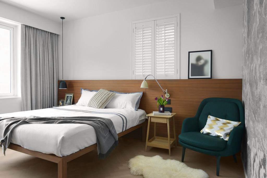 當代, 私家樓, 睡房, 跑馬地, 室內設計師, hoo, 古典, Chair, Furniture, Bed, Indoors, Interior Design, Room