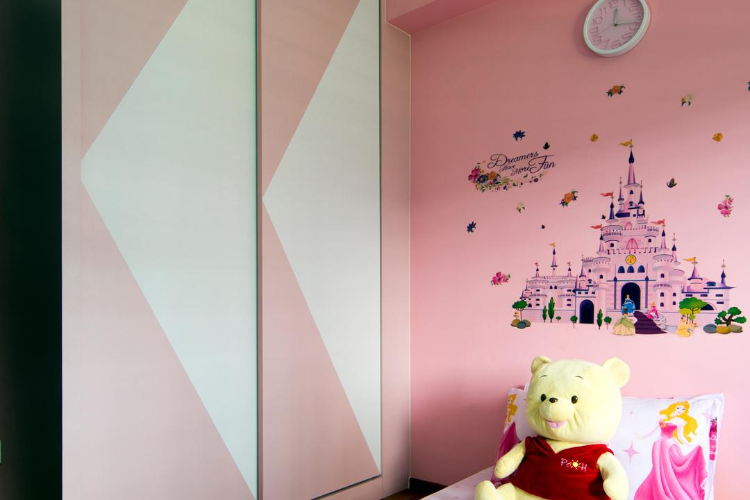 Punggol Walk (Block 308), Chapter One Interior Design, Traditional, Bedroom, HDB, Art, Graphic Design, Toy, Indoors, Interior Design
