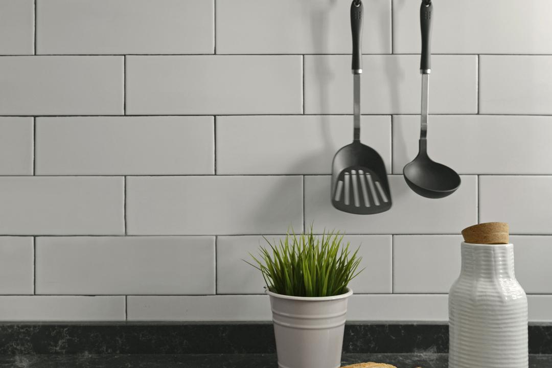 將軍澳, hoo, 北歐, 復古, 工業, 廚房, 私家樓, Tiles, Subway Tiles, Monochrome
