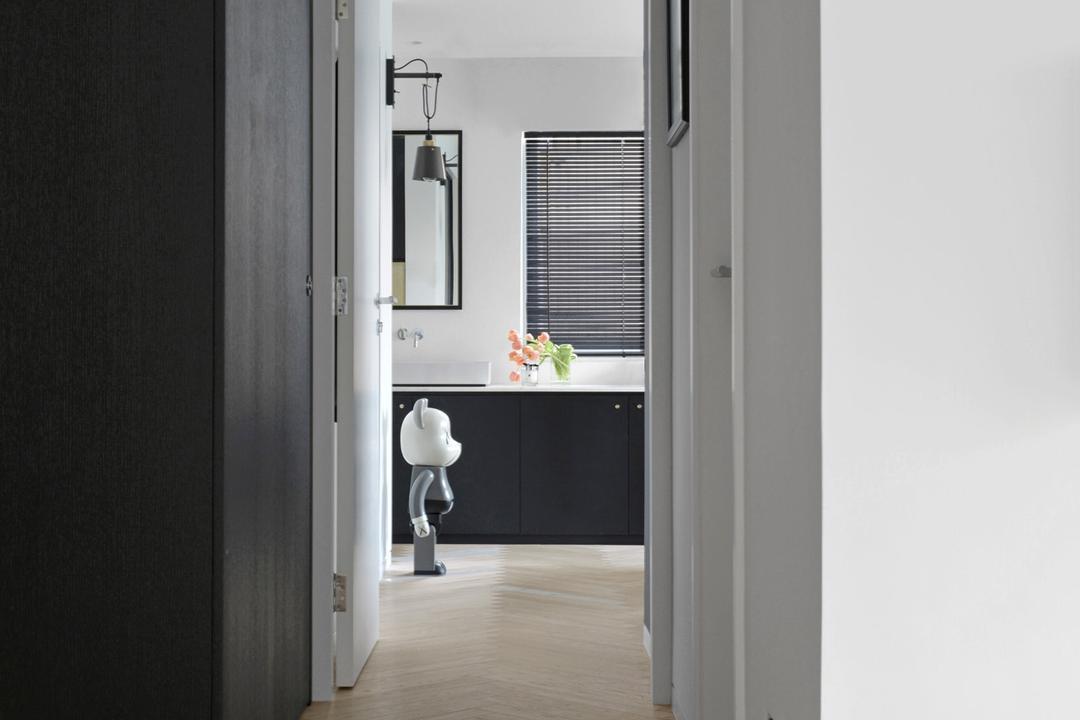 薄扶林, hoo, 北歐, 摩登, 客廳, 私家樓, Corridor, Hallway, Storage, Display, Furniture, Sideboard