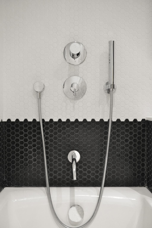 北歐, 私家樓, 浴室, 薄扶林, 室內設計師, hoo, 摩登, Monochrome, Black And White