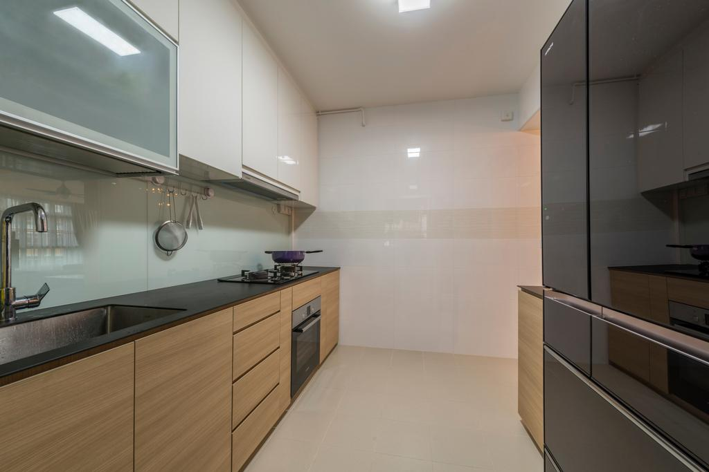 HDB, Kitchen, Canberra Street, Interior Designer, 9 Creation, Building, Housing, Indoors, Loft, Interior Design, Room