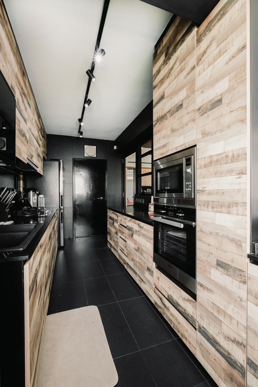 HDB, Kitchen, Keat Hong Close, Interior Designer, Lemonfridge Studio, Appliance, Electrical Device, Oven