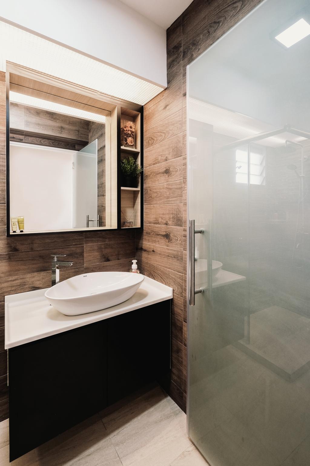 HDB, Bathroom, Keat Hong Close, Interior Designer, Lemonfridge Studio, Indoors, Interior Design, Room