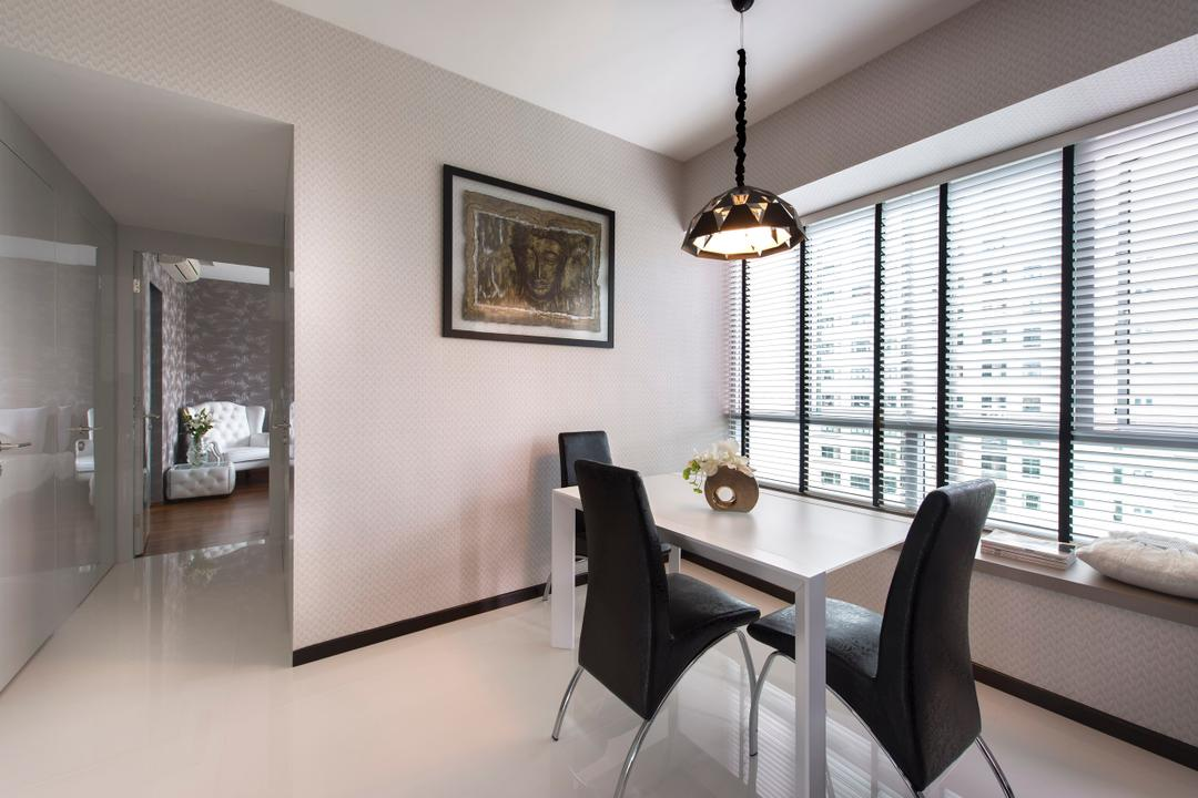 Domain 21, D5 Studio Image, Modern, Dining Room, Condo, Chair, Furniture, Dining Table, Table, Indoors, Interior Design, Room, Plaque, Art, Art Gallery