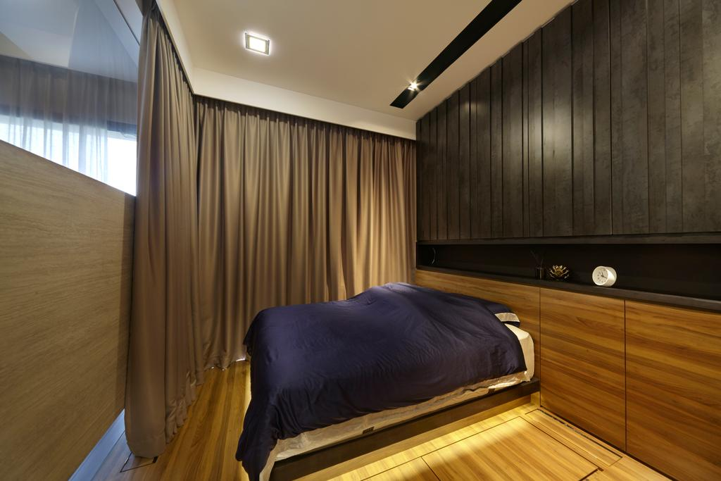 Condo, Bedroom, Boathouse Residence, Interior Designer, Notion of W, Banister, Handrail, Staircase