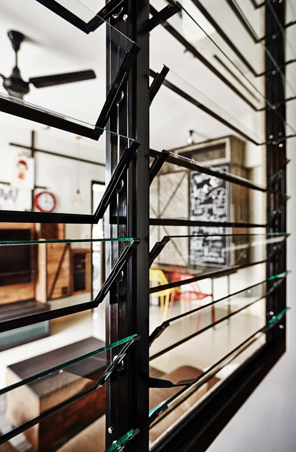 Industrial, Condo, Living Room, Arc @ Tampines, Interior Designer, Dan's Workshop, Windows, Hooves