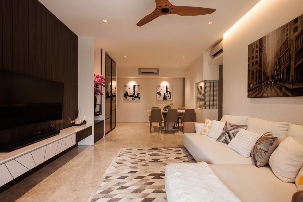 Modern, Condo, Living Room, The Venue Residences, Interior Designer, Space Atelier, Building, City, Road, Street, Town, Urban