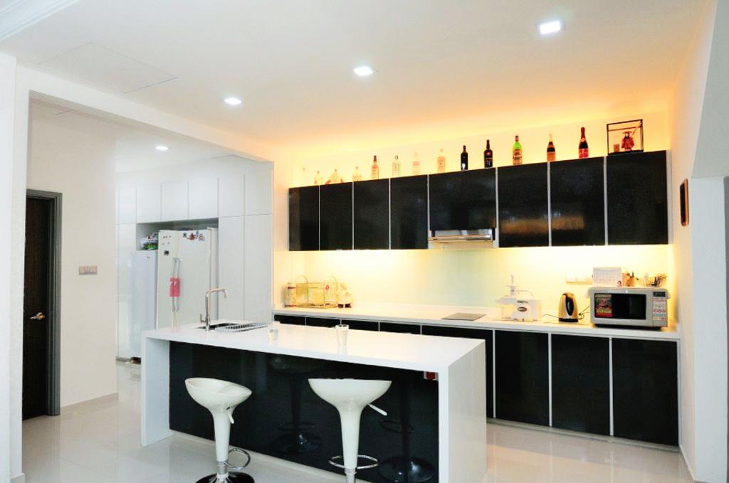 Modern, Landed, Kitchen, Saraca Place, Interior Designer, AgcDesign, Appliance, Electrical Device, Oven, Dining Room, Indoors, Interior Design, Room