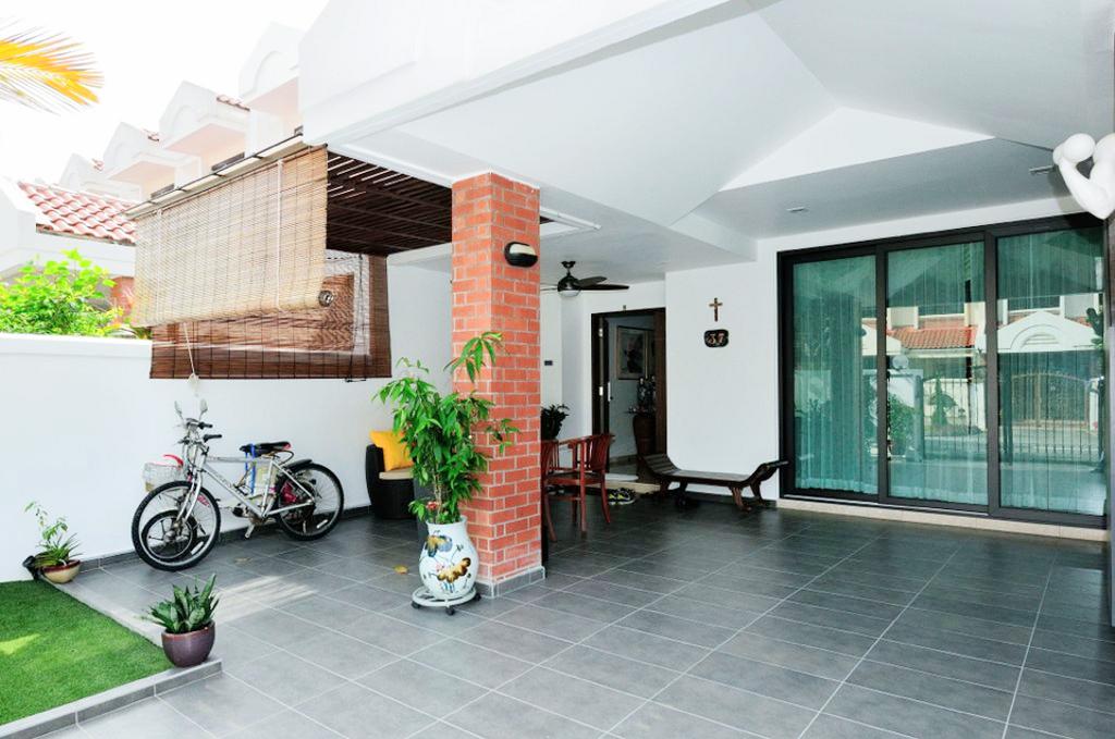 Modern, Landed, Garden, Saraca Place, Interior Designer, AgcDesign, Flora, Jar, Plant, Potted Plant, Pottery, Vase