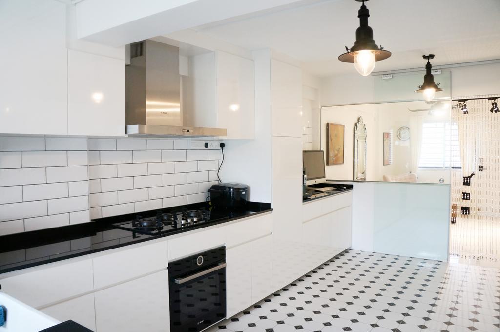 Contemporary, HDB, Kitchen, Whampoa Drive, Interior Designer, AgcDesign, Minimalist, Appliance, Electrical Device, Oven, Tile, Indoors, Interior Design