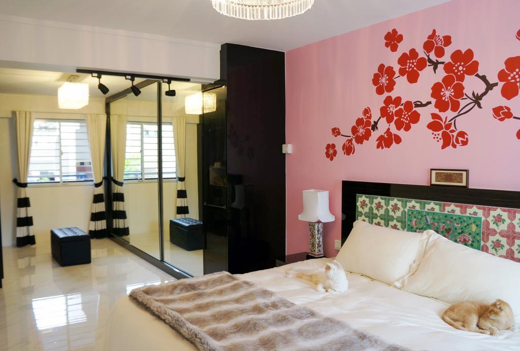 Contemporary, HDB, Bedroom, Whampoa Drive, Interior Designer, AgcDesign, Minimalist, Door, Sliding Door, Bathroom, Indoors, Interior Design, Room