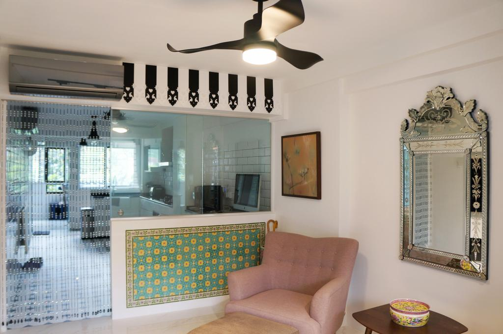 Contemporary, HDB, Whampoa Drive, Interior Designer, AgcDesign, Minimalist, Indoors, Nursery, Room, Mirror, Couch, Furniture