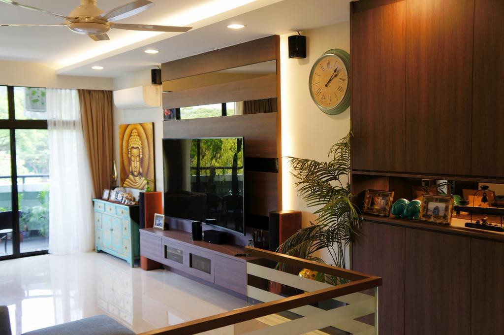 Modern, Condo, Living Room, Mandarin Gardens, Interior Designer, AgcDesign, Flora, Jar, Plant, Potted Plant, Pottery, Vase, Indoors, Interior Design