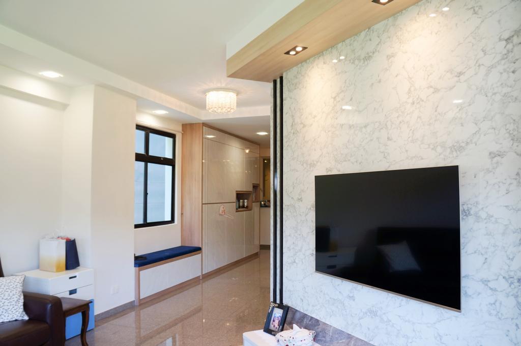 Modern, Condo, Living Room, Mandarin Gardens, Interior Designer, AgcDesign