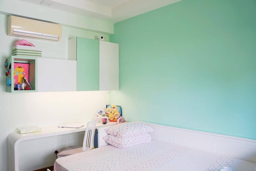 Modern, Condo, Bedroom, Mandarin Gardens, Interior Designer, AgcDesign, Indoors, Interior Design, Room, Carpet, Home Decor