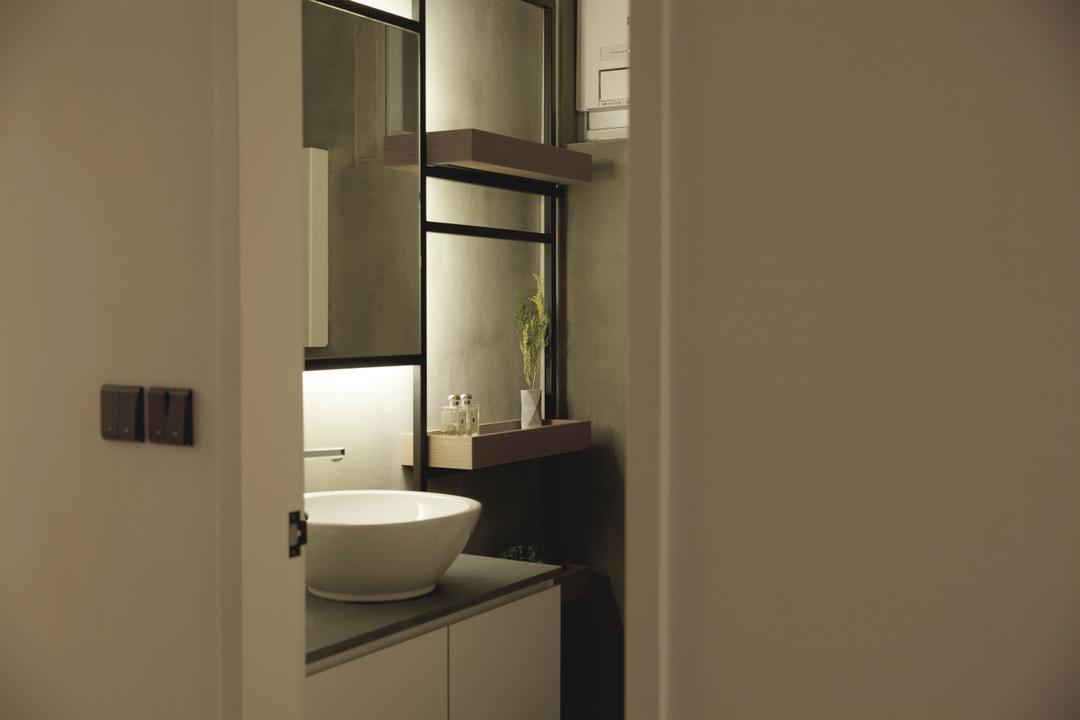 太古城, wonderwonder, 北歐, 簡約, 浴室, 私家樓, Sink, Door, Sliding Door, Indoors, Interior Design, Room