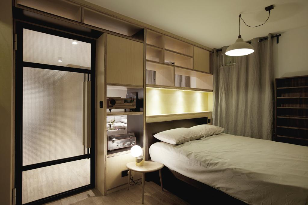 北歐, 私家樓, 睡房, 太古城, 室內設計師, wonderwonder, 簡約, Bed, Furniture, Closet, Wardrobe