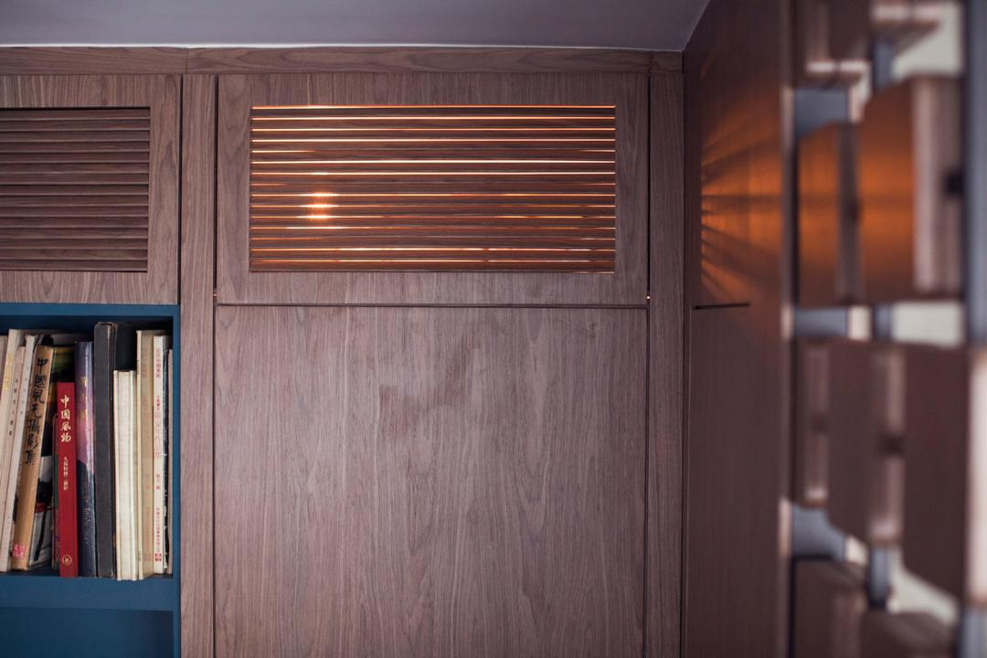 美孚新邨, wonderwonder, 復古, 睡房, 私家樓, Bookcase, Furniture, Bench