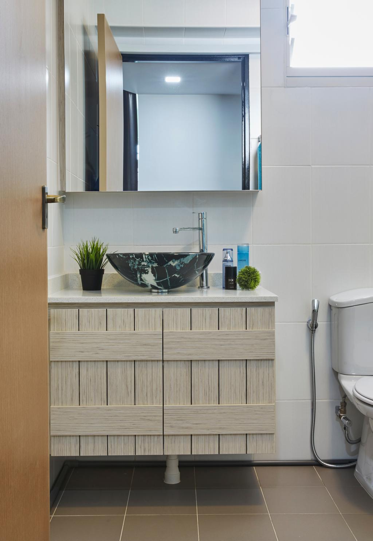 Scandinavian, HDB, Bathroom, Bukit Batok Street 22, Interior Designer, i-Chapter, Flora, Jar, Plant, Planter, Potted Plant, Pottery, Vase