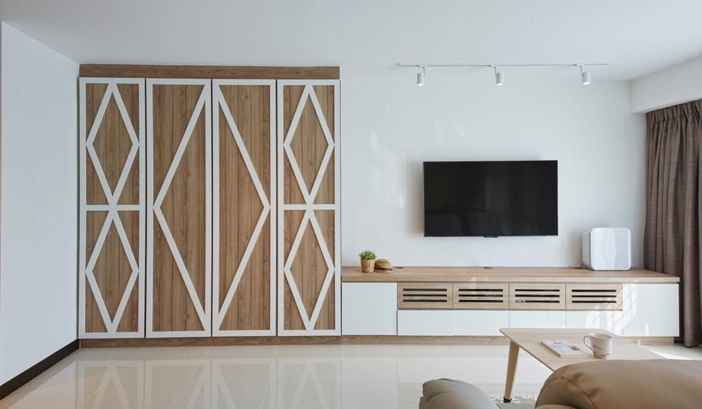 Scandinavian, HDB, Living Room, Bukit Batok Street 22, Interior Designer, i-Chapter, Indoors, Interior Design