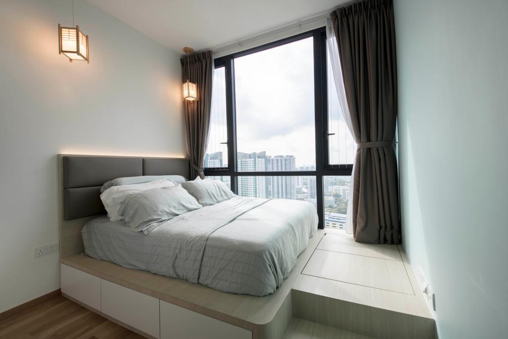 Scandinavian, Condo, Bedroom, The Trilinq, Interior Designer, Ascenders Design Studio, Minimalistic, Indoors, Interior Design, Room