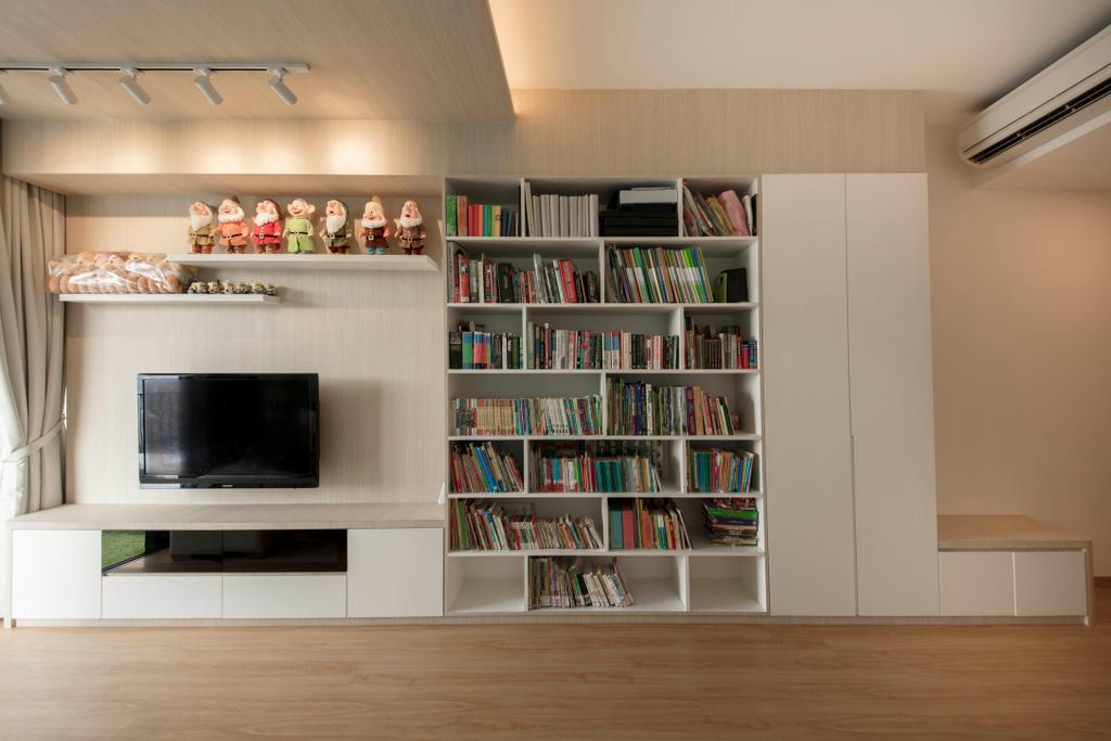 Scandinavian, Condo, Living Room, The Trilinq, Interior Designer, Ascenders Design Studio, Minimalistic, Bookcase, Furniture