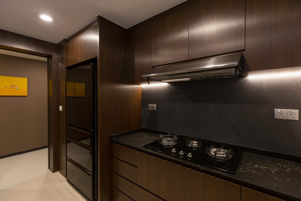 Modern, Condo, Kitchen, Lake Life, Interior Designer, The Orange Cube, Appliance, Electrical Device, Oven, Corridor