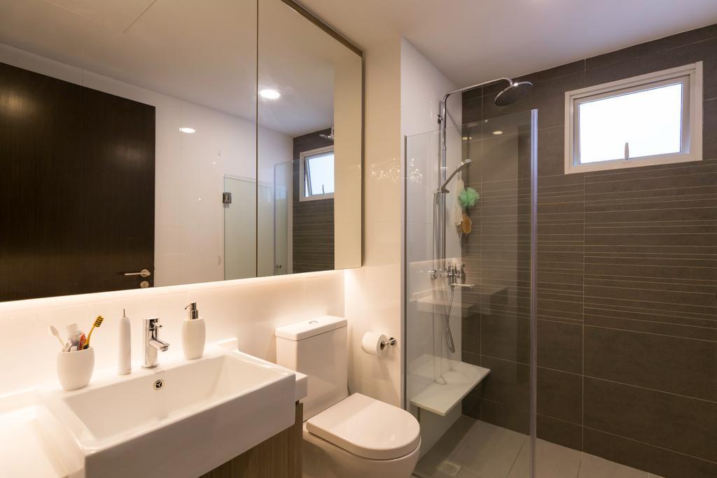 Modern, Condo, Bathroom, Lake Life, Interior Designer, The Orange Cube, Indoors, Interior Design, Room, Sink, Toilet