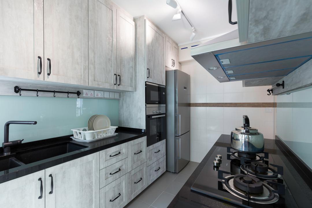 Punggol Field, Space Define Interior, Scandinavian, Kitchen, HDB, Plate Rack, Indoors, Interior Design, Room