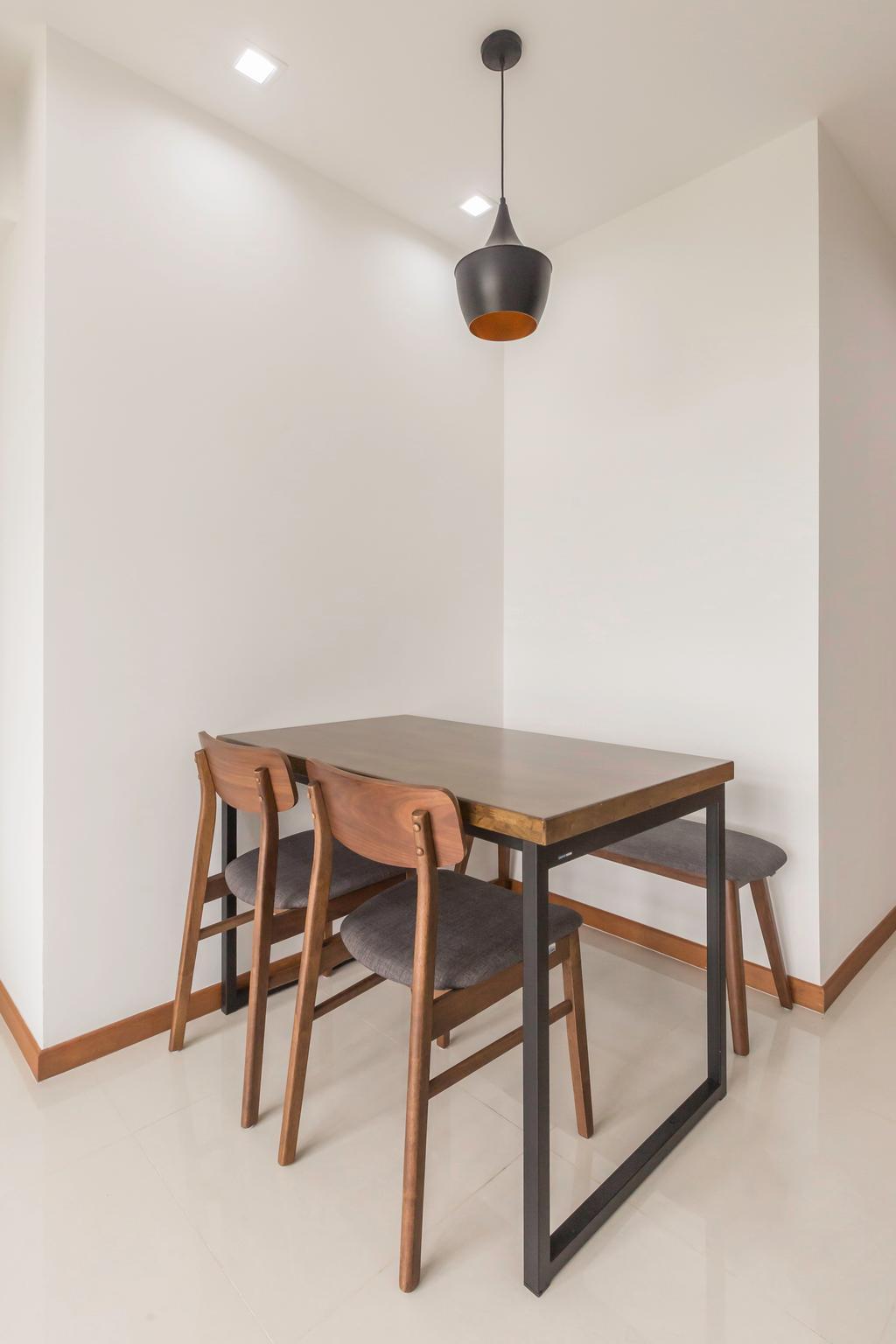 Scandinavian, HDB, Dining Room, Sumang Lane, Interior Designer, DB Studio, Minimalist, Dining Table, Furniture, Table, Bar Stool, Chair