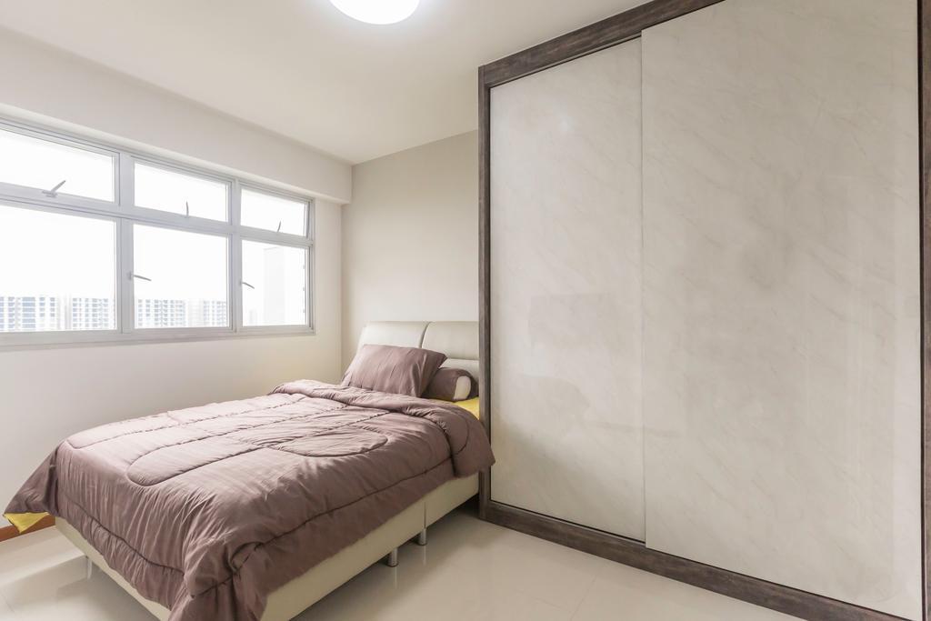 Scandinavian, HDB, Bedroom, Sumang Lane, Interior Designer, DB Studio, Minimalist, Bed, Furniture, Indoors, Interior Design, Room, Building, Housing, Loft