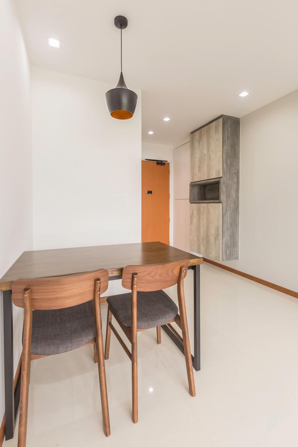 Scandinavian, HDB, Dining Room, Sumang Lane, Interior Designer, DB Studio, Minimalist, Chair, Furniture, Dining Table, Table, Plywood, Wood