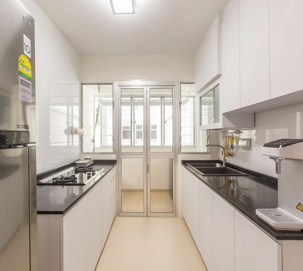 Scandinavian, HDB, Kitchen, Sumang Lane, Interior Designer, DB Studio, Minimalist, Sink, Indoors, Interior Design, Room