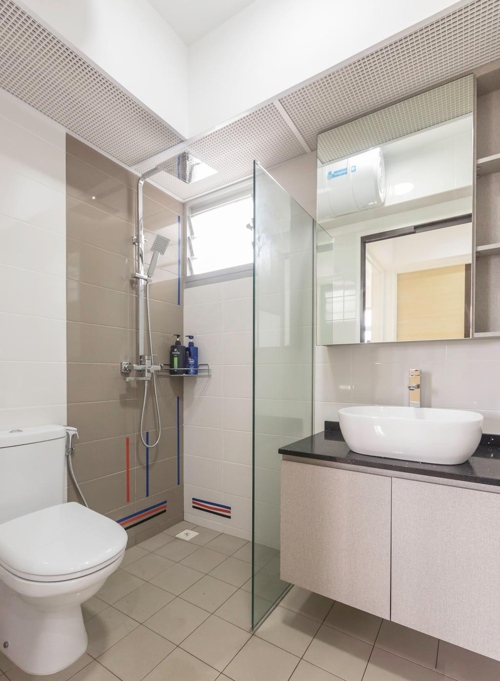 Scandinavian, HDB, Sumang Lane, Interior Designer, DB Studio, Minimalist, Bathroom, Indoors, Interior Design, Room