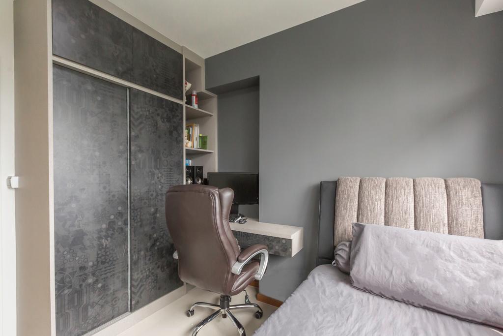 Scandinavian, HDB, Study, Sumang Lane, Interior Designer, DB Studio, Minimalist, Chair, Furniture, Couch, Bedroom, Indoors, Interior Design, Room