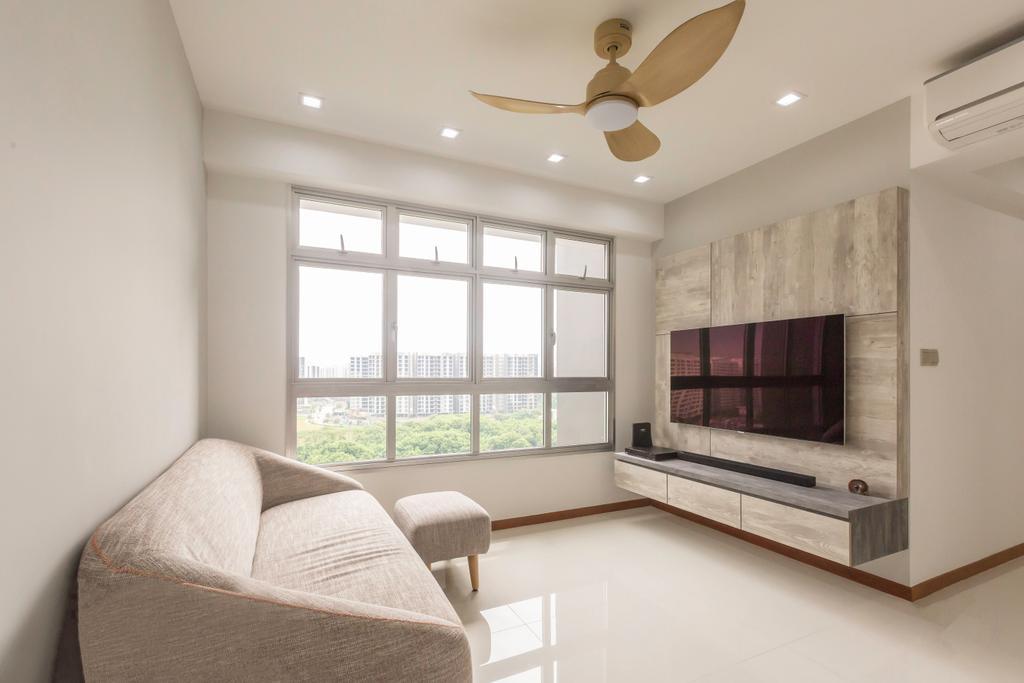 Scandinavian, HDB, Living Room, Sumang Lane, Interior Designer, DB Studio, Minimalist, Fireplace, Hearth, Indoors, Interior Design
