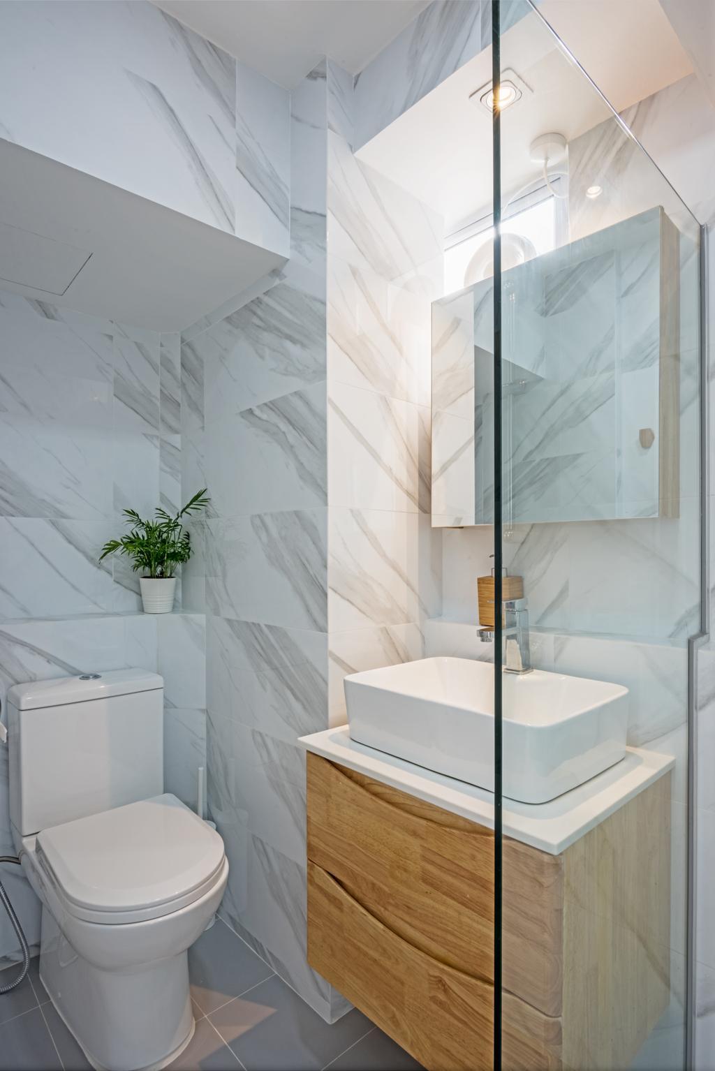 Scandinavian, HDB, Bathroom, Jurong East Street 24, Interior Designer, DB Studio, Indoors, Interior Design, Room