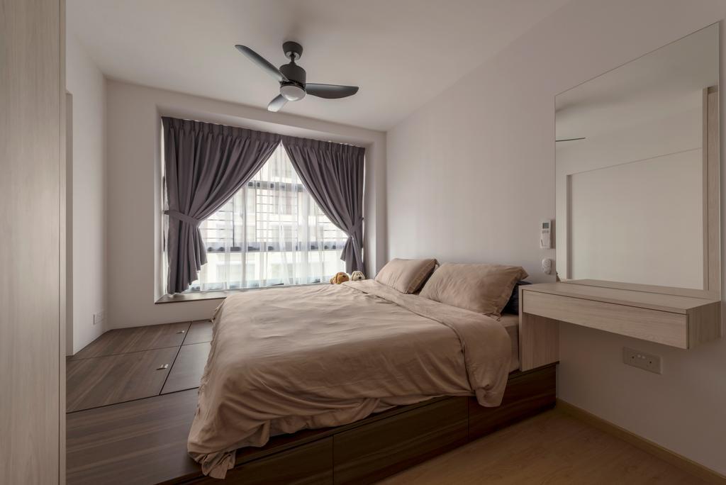 Scandinavian, HDB, Geylang Serai, Interior Designer, GB Interior Design, Bed, Furniture