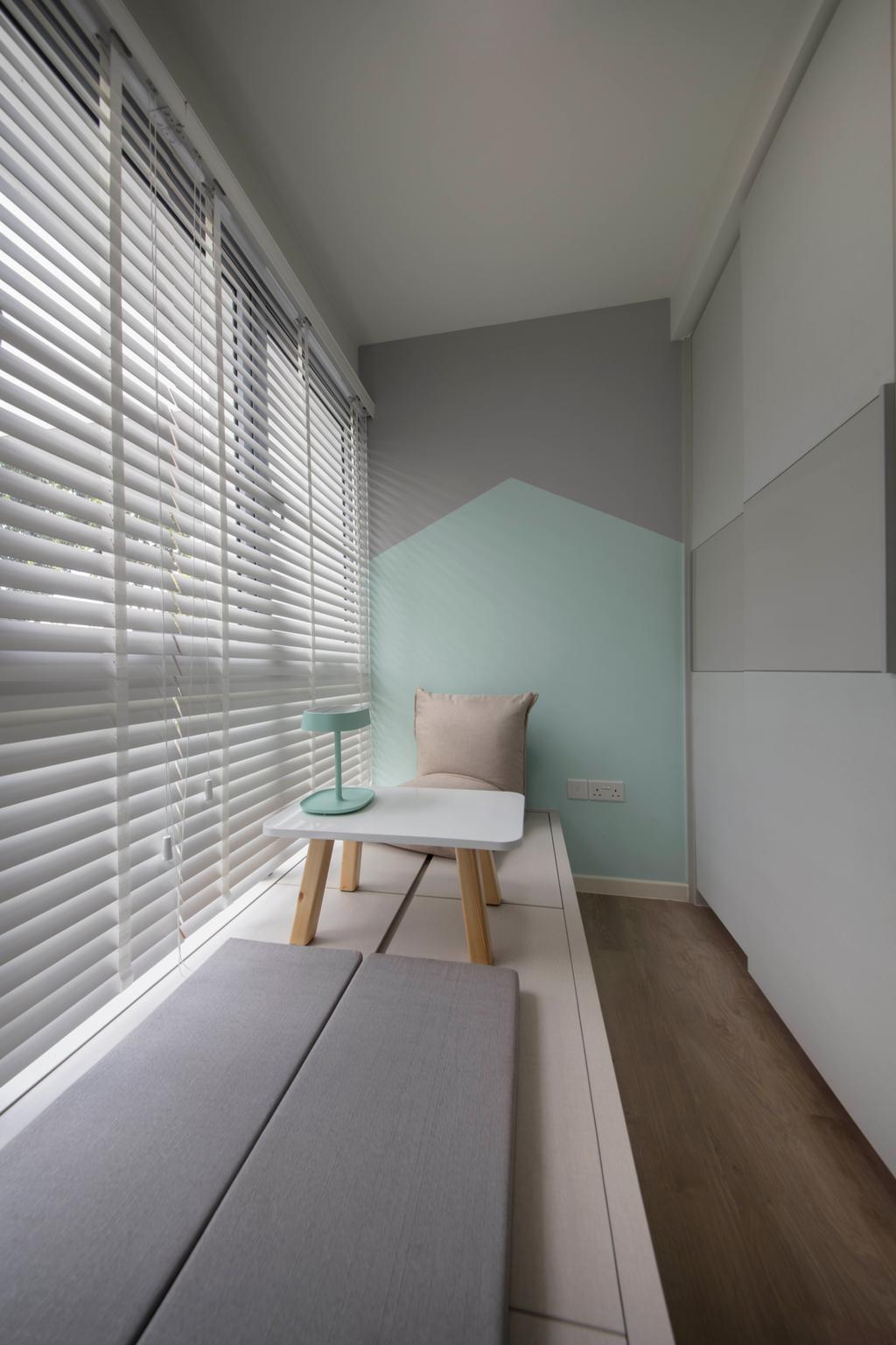 Scandinavian, HDB, Study, Pasir Ris Drive 1, Interior Designer, D Initial Concept, Minimalistic, Chair, Furniture, Indoors, Interior Design