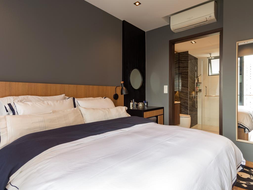 Scandinavian, Condo, Bedroom, 8M Residence, Interior Designer, Posh Home, Contemporary, Bed, Furniture, Indoors, Interior Design, Room, Molding