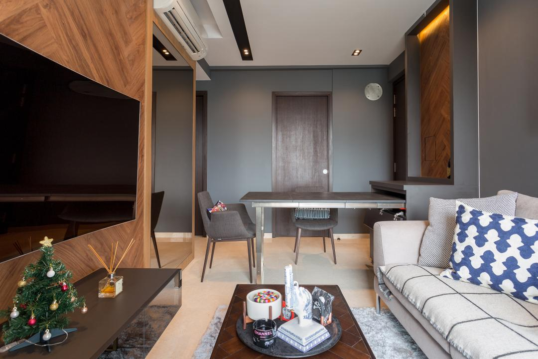 8M Residence, Posh Home, Scandinavian, Contemporary, Dining Room, Condo, Indoors, Room, Furniture, Tabletop