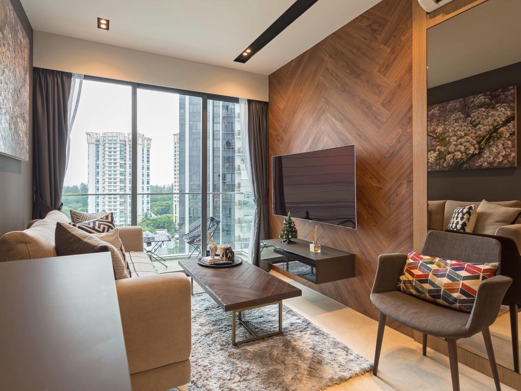 Scandinavian, Condo, Living Room, 8M Residence, Interior Designer, Posh Home, Contemporary, Chair, Furniture, Indoors, Room, Dining Room, Interior Design