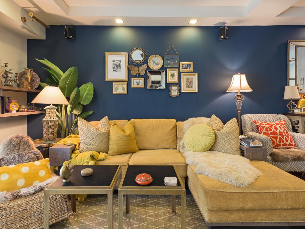 Eclectic, HDB, Living Room, Clementi Avenue 3, Interior Designer, Prozfile Design, Couch, Furniture, Indoors, Interior Design, Room