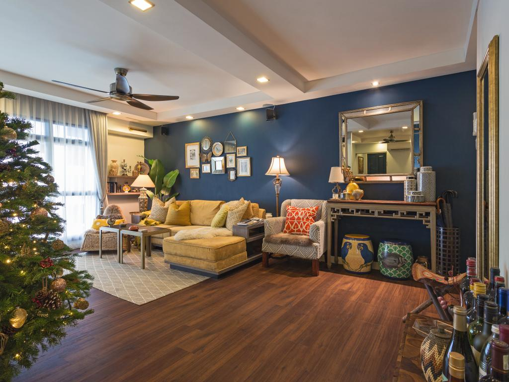 Eclectic, HDB, Living Room, Clementi Avenue 3, Interior Designer, Prozfile Design, Couch, Furniture, Bottle, Indoors, Interior Design