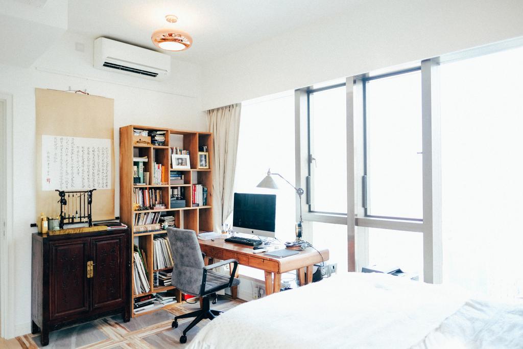 復古, 私家樓, 書房, Kensington Hill, 室內設計師, The Realizes co., 睡房, Indoors, Interior Design, Room, Chair, Furniture