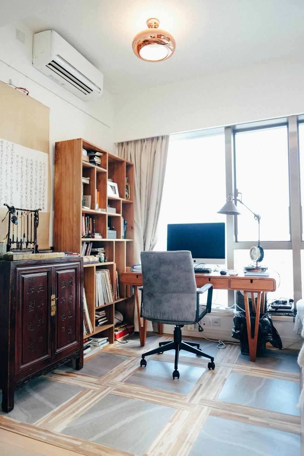 復古, 私家樓, 書房, Kensington Hill, 室內設計師, The Realizes co., Chair, Furniture, Sink, Bookcase