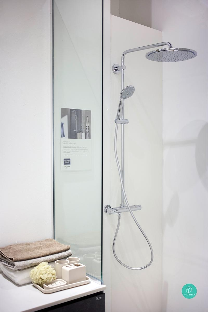 No more water woes with grohe s innovative bath fixtures - What uses more water bath or shower ...