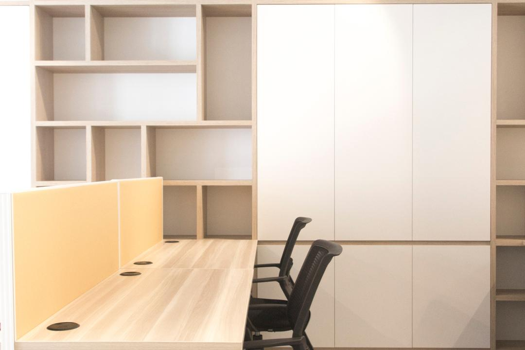 19 Cantonment, PROVOLK ARCHITECTS, Modern, Commercial, Cubicle, Work Desk, Cubbyhole, Cabinet, Furniture, Chair